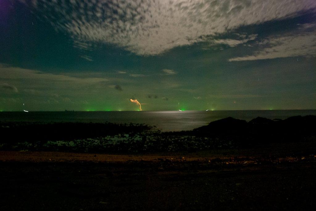 lightning crashes - long exposure